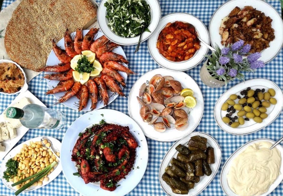clean monday Greece food