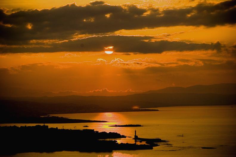 Venizelos Graves & Panoramic Chania Lookout Point, Crete Greece - Platanias Village